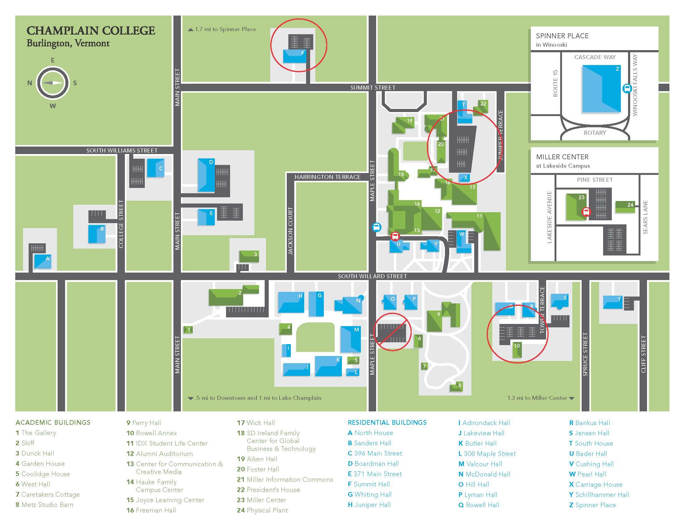 Champlain College Campus Map Ccm – AGCReWall