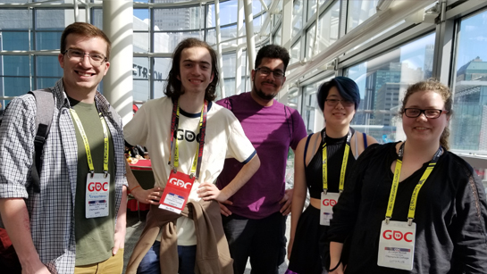 Champlain students attending the Game Developers Conference in San Fransisco