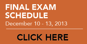 Final Exam Schedule - Fall 2013