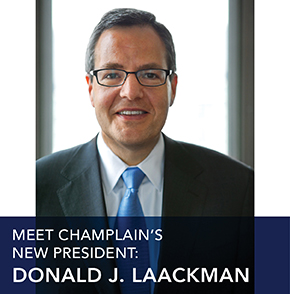 Meet Champlain College's new president.