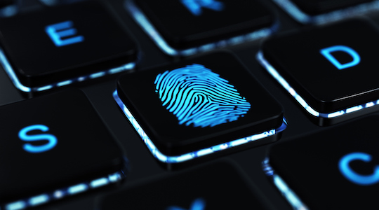 computer fingerprint key