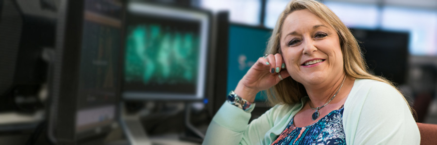 Student in an online degree program
