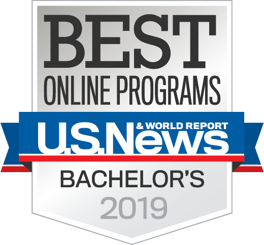 US News & World Report Best Online Bachelor's Badge