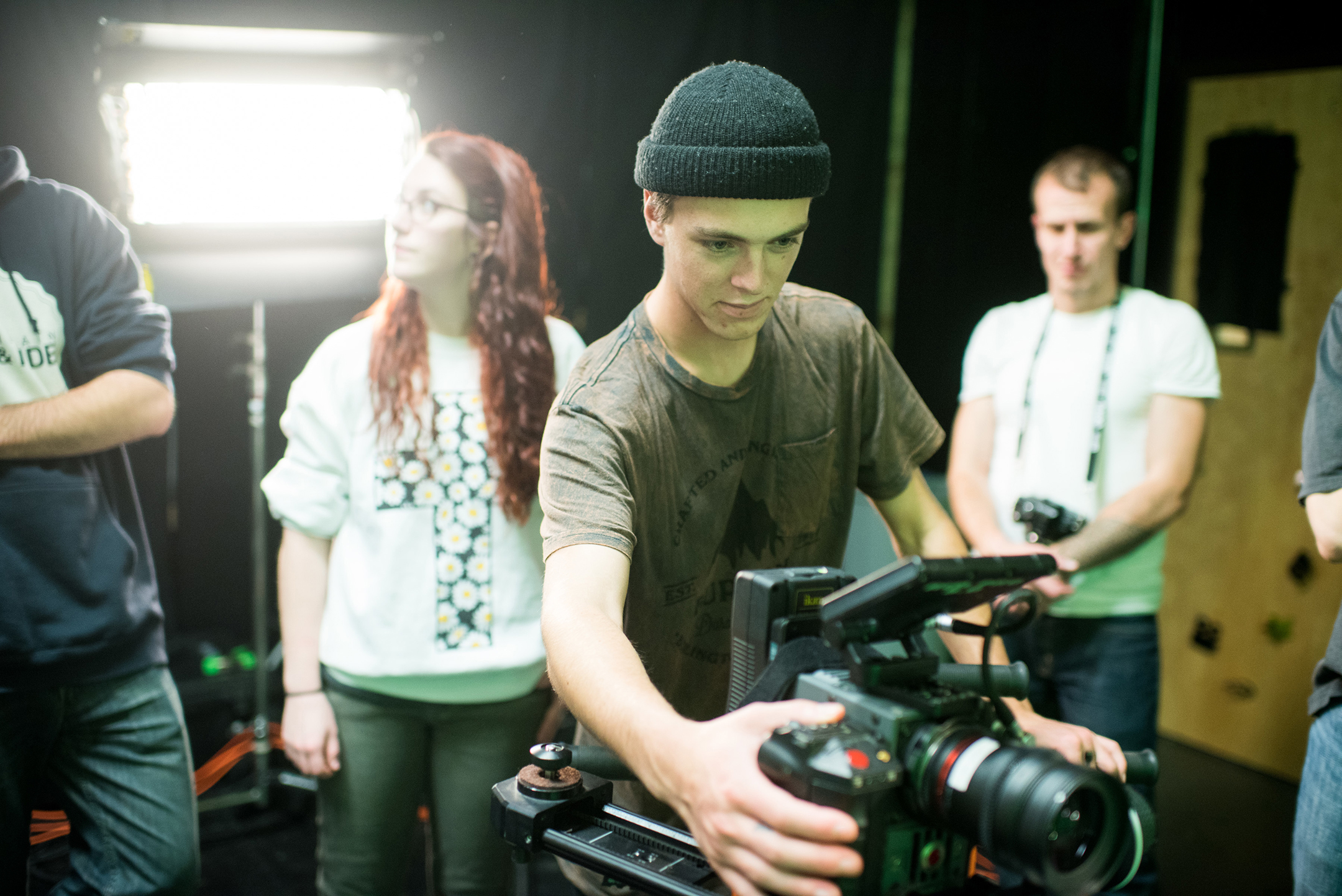 Film and video production at the art & design portfolio summer course for hgih school students
