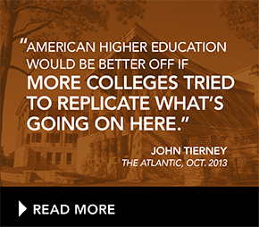 American Higher Education would be better off if more colleges tried to replicate what's going on here.