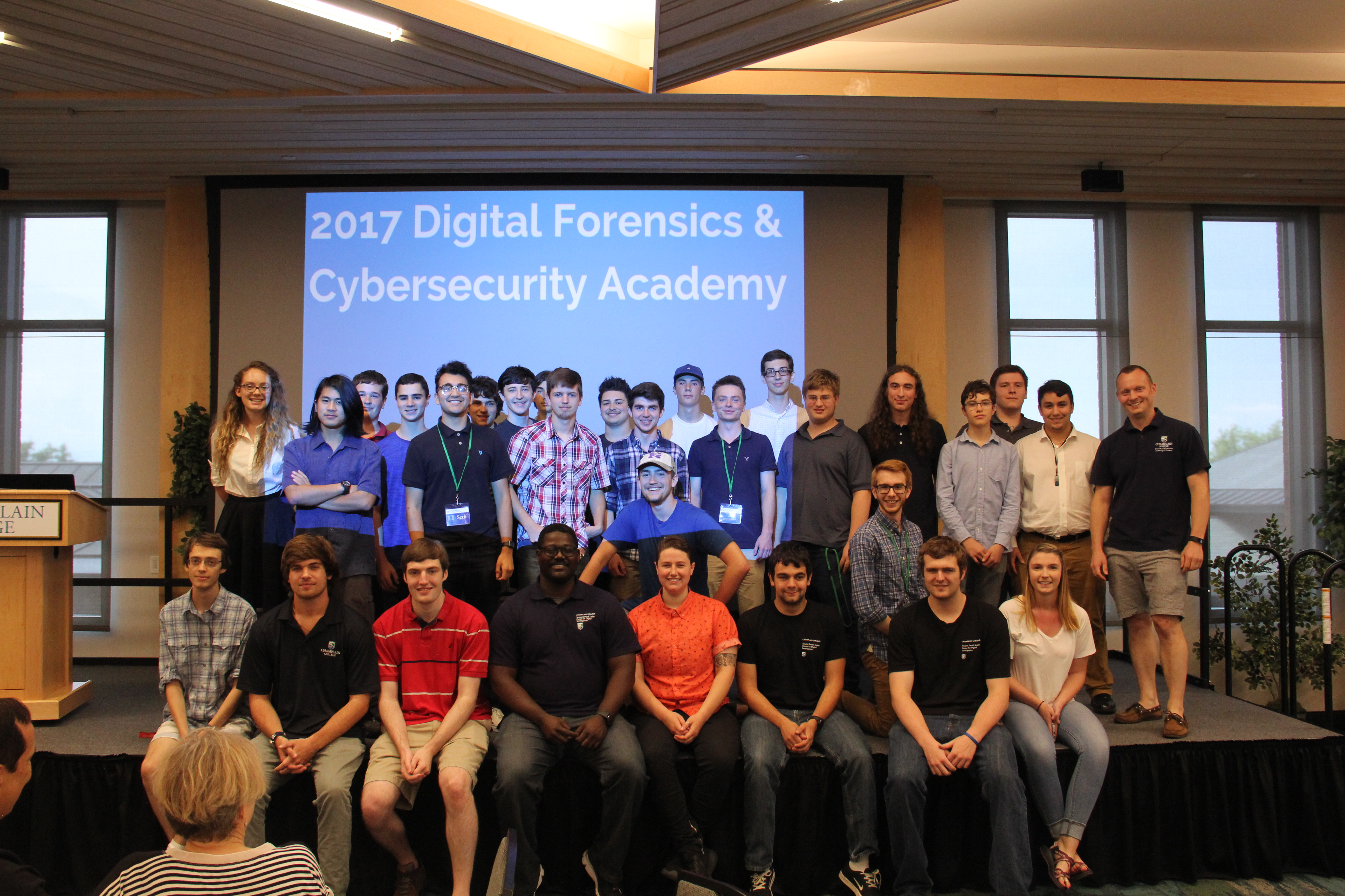 High School students in the Summer Digital Forensics & Cybersecurity Academy
