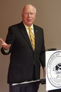 US Senator Patrick Leahy at Champlain College
