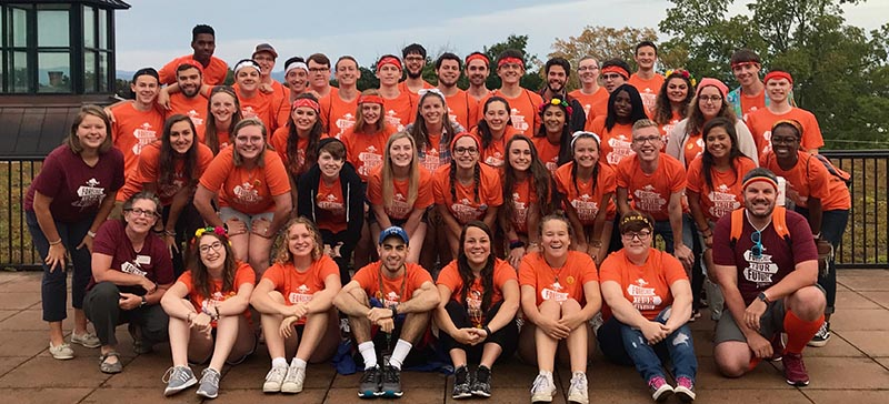 College orientation leaders group photo