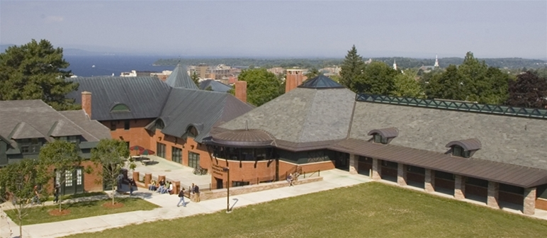 The Champlain College campus in Burlington, Vermont