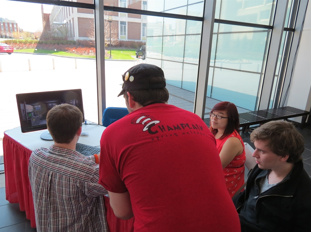 Students Exhibiting their Games at GameFest 2013