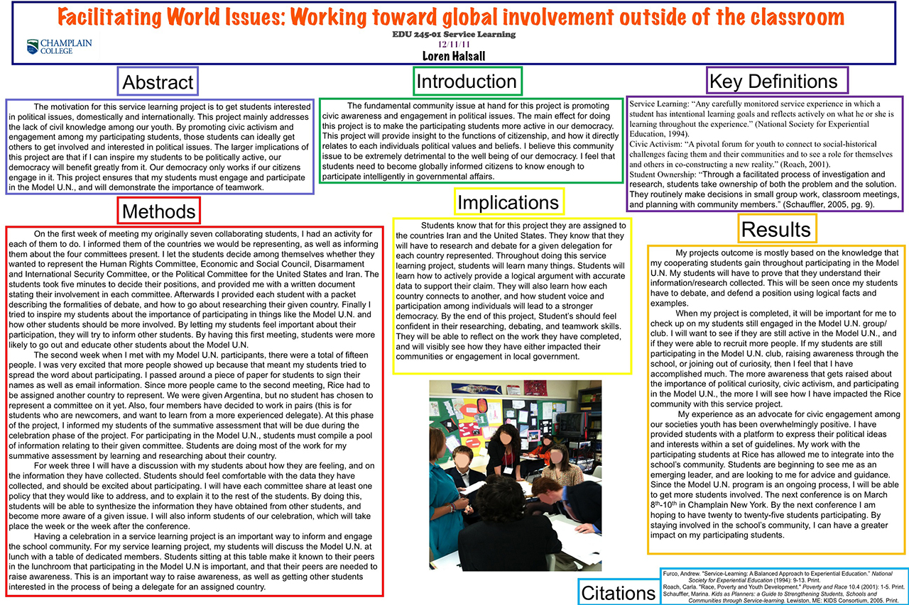 Facilitating World Issues: Working toward global involvement outside of the classroom