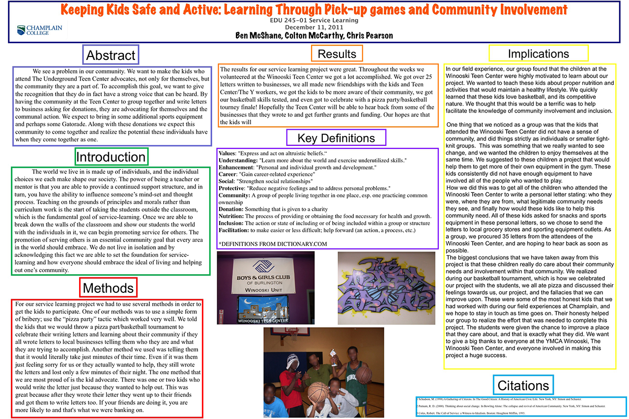 Keeping Kids Safe and Active: Learning Through Pick-Up Games and Community Involvement