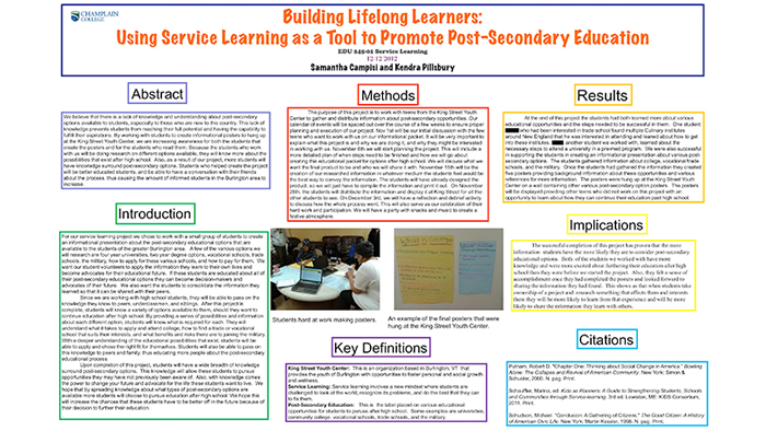 Building Lifelong Learners: Using Service Learning as a Tool to Promote Post-Secondary Education