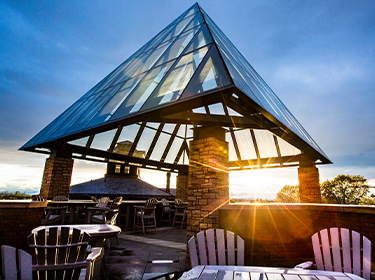 Sunset at the Champlain room patio