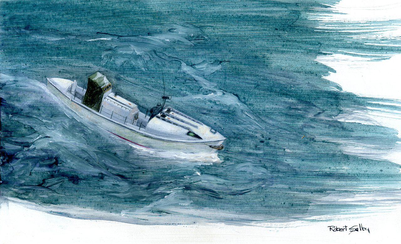 """Life Boat 3"" by Champlain College professor Bob Selby"