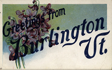 A Burlington postcard with flowers