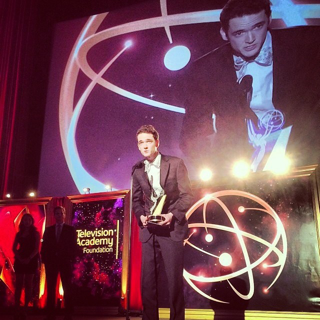 Jack Carpenter '15 accepting his College Television Emmy Award. Source: Facebook