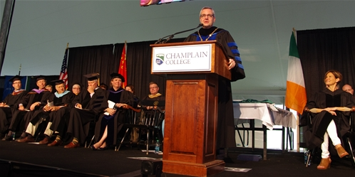 President Donald Laackman at 2015 Commencement