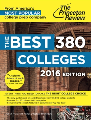 Princeton Review Best 380 Colleges