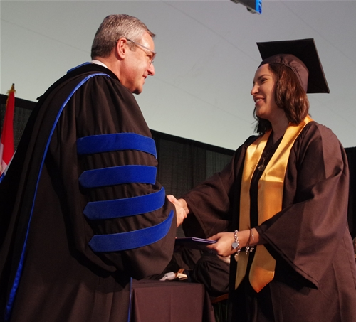 President Donald J. Laackman presented diplomas to the Class of 2016.