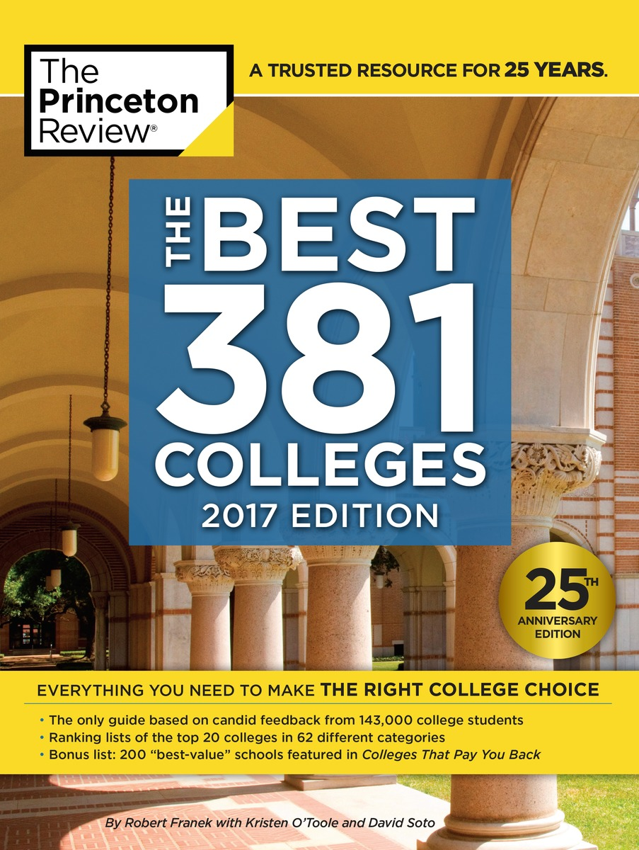 Princeton Review 2017 Best 381 Colleges