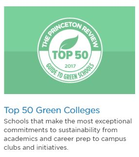 Top 50 Green Colleges logo