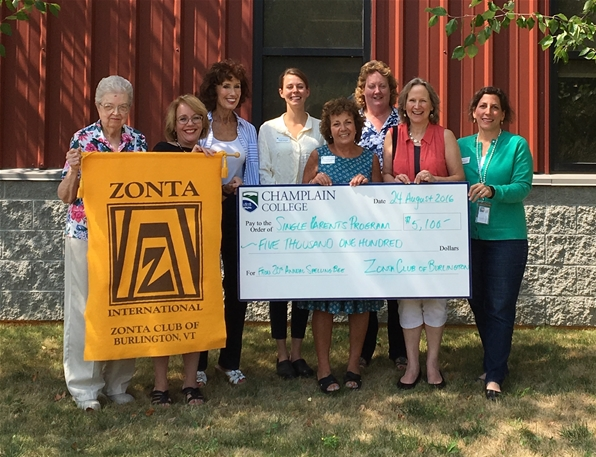 Zonta check presentation to Champlain