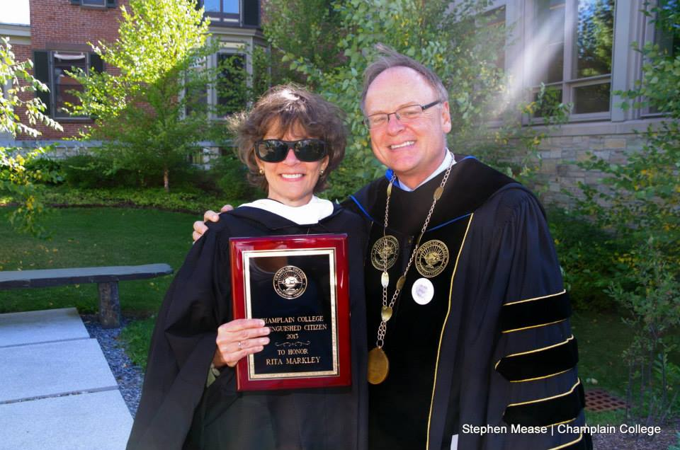 Rita was presented with the Distinguished Citizen Award by President David Finney at the Opening Convocation Ceremony for the Class of 2017 last Friday.
