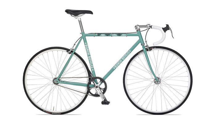 Rendering of a new Bianchi Pista, designed by Champlain Graphic Design student, Chris