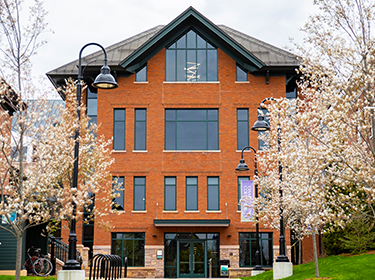 Spring photo of the Center for Communication and Creative Media
